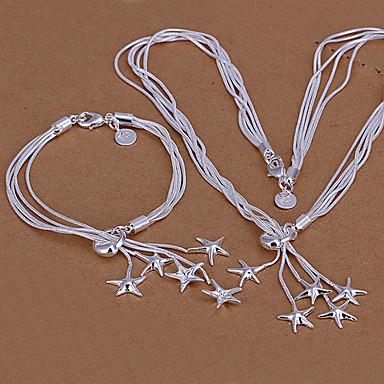 Gümüş Kaplama Kolyeler Bilezik Uyumluluk Parti Doğumgünü Nişan Günlük Düğün Hediyeleri