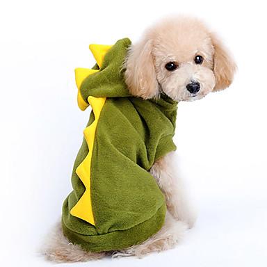 Cachorro Fantasias Camisola com Capuz Roupas para Cães Desenho Animado Vermelho Verde Algodão Ocasiões Especiais Para animais de estimação