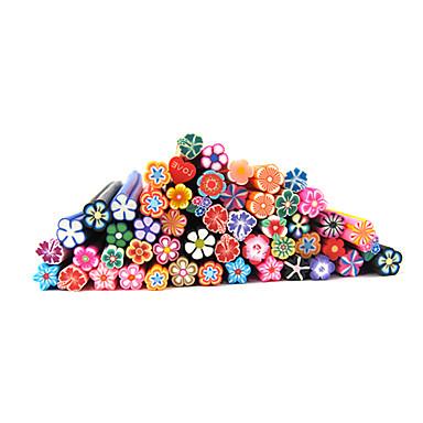 20 pcs Nail Jewelry / Polimer Nail Art Çiçek / Karikatür / Moda Sevimli Günlük Tırnak Tasarımı Tasarımı / Seramik