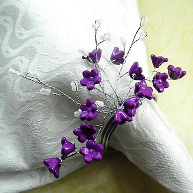 Çiçek Akrlilik / Pamuk Peçete Yüzüğü Çevre-dostu Masa Süslemeleri 12 pcs