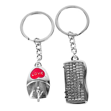 Kişiselleştirilmiş oyulmuş hediye fare ve klavye şekilli sevgilisi Anahtarlık