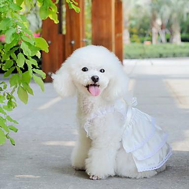 Perro Vestidos Ropa para Perro Boda Blanco Disfraz Para mascotas