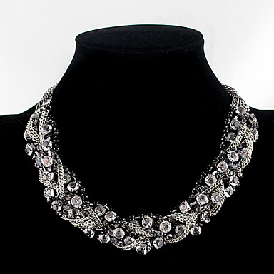 Women's Rhinestone Choker Necklace - Necklace For Party