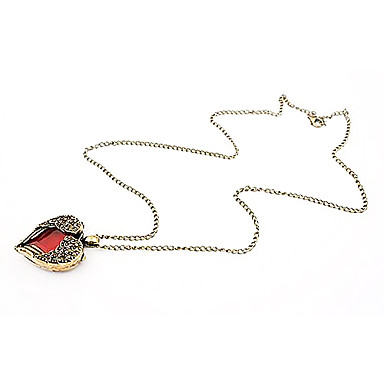 Korean wild hearts can love heart-shaped peach heart necklace N118