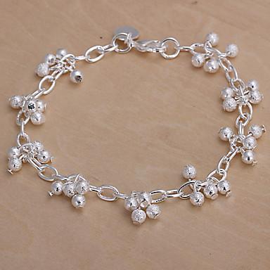 Kadın Zincir & Halka Bileklikler Bakır Gümüş Kaplama Mücevher Uyumluluk Düğün Parti Günlük Spor