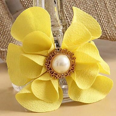 Çiçek Sarı Saç Kravatlar