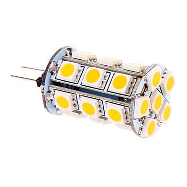 370 lm G4 LED Mısır Işıklar T 24 led SMD 5050 Sıcak Beyaz DC 12V