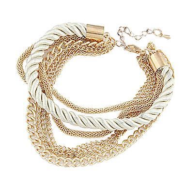 Moda 7cm Kadın'S Altın Alaşım Zincir & Link Bileklik (Siyah, Beyaz) (1 Adet)