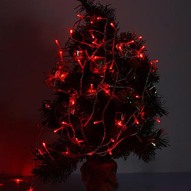 10m Dizili Işıklar 100 LED'ler Kırmızı Dekorotif / Bağlanabilir 220-240 V