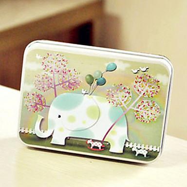 прямоугольник слон шаблон жестяной коробке