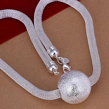 Bakır Gümüş Kaplama Zincir Kolyeler - Bakır Gümüş Kaplama Kolyeler Uyumluluk Düğün Parti Günlük Spor