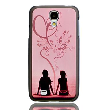 Samsung Galaxy S4 I9500 için Romantik Aşıklar Embossment Boyama Desen Plastik Hard Case Arka Kapak