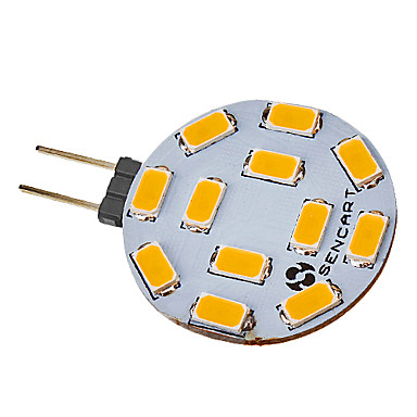 550-600 lm G4 LED-spotlampen 12 leds SMD 5730 Warm wit AC 220-240V