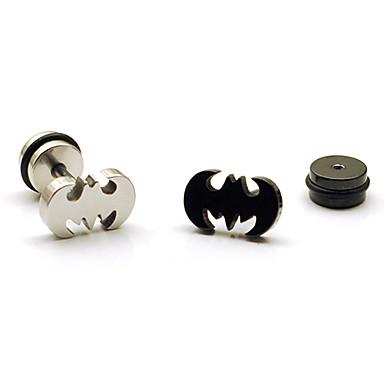 Муж. Серьги-гвоздики - Нержавеющая сталь, Титановая сталь Черный / Серебряный Назначение Новогодние подарки Для вечеринок Повседневные
