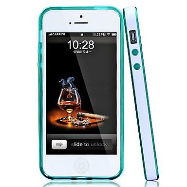 Стильный ТПУ бампер Рамка для iPhone 5/5S (разных цветов)