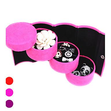 Textil Kunststoff Oval Multi-Funktions- Zuhause Organisation, 1pc Schmuckbehälter