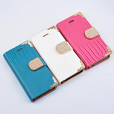 Elegant Solid Color Diamond Button Full Body Case for iPhone 5C