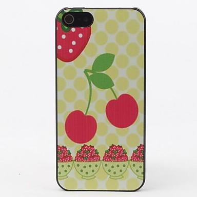 Için iPhone 5 Kılıf Temalı Pouzdro Arka Kılıf Pouzdro Meyve Sert PC iPhone SE/5s/5