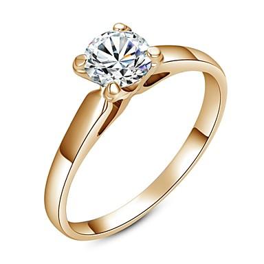 Kadın's Bildiri Yüzüğü - Kristal Moda 6 / 7 / 8 Uyumluluk Düğün / Parti / Günlük