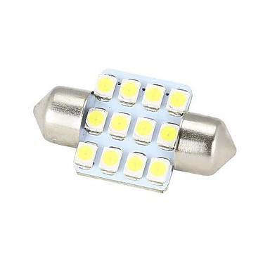Festoon Araba Beyaz 3W SMD 3528 4000-4500Gösterge Işıkları Okuma Işığı Plaka Aydınlatma Lambası Sinyal Lambası Fren Işığı Çift Taraflı