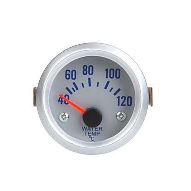 Auto Car Sensörlü su Sıcaklık Ölçer Göstergesi 2 52mm 40 ~ 120Celsius Derece Turuncu Işık