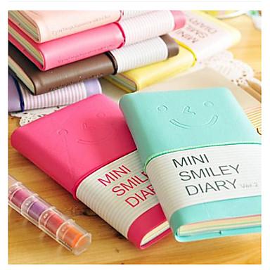 Mini gülümseme yüzü renkli günlüğü dizüstü (rastgele renk)