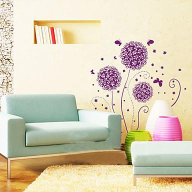 1 adet mor çiçek duvar sticker