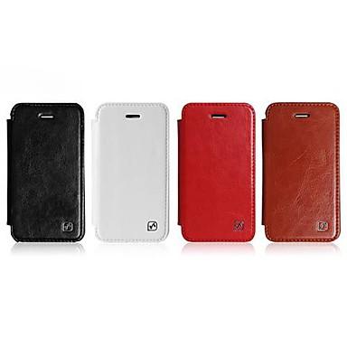 HOCO cristal série PU cuir Side Flip Book couverture dure de cas de Shell pour l'iphone 4 / 4S (couleurs assorties)