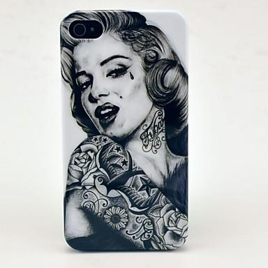 IPhone 4/4S için Dövme Kız Desen Hard Case
