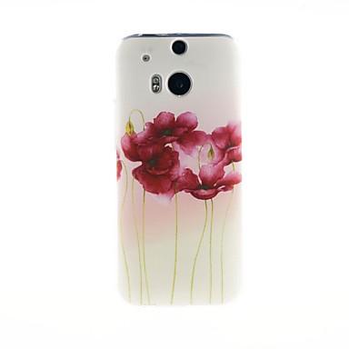 Pouzdro Uyumluluk HTC HTC Kılıf Temalı Arka Kapak Çiçek Yumuşak TPU için