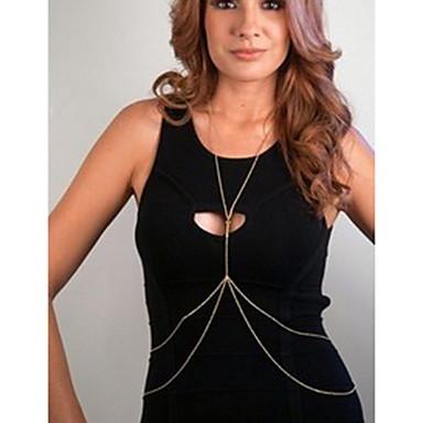 Göbek Zinciri / Vücut Zinciri / Belly Chain Eşsiz Tasarım, Avrupa, minimalist tarzı Kadın's Altın / Gümüş Vücut Mücevheri Uyumluluk Günlük