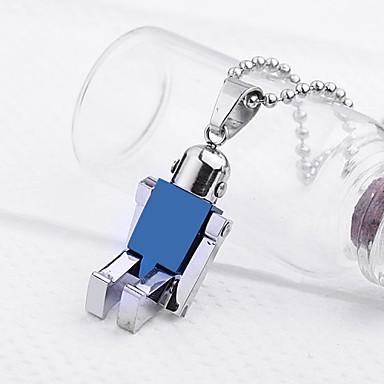 Robot Joyería personalizada regalo en forma de collar colgante grabado con 60 cm Cadena