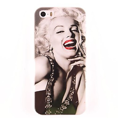 IPhone 5/5S için Marilyn Monroe Desen PC Hard Case