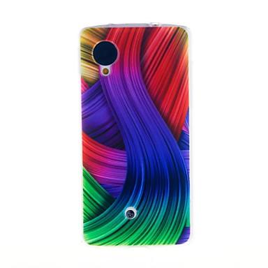 Için LG Kılıf Temalı Pouzdro Arka Kılıf Pouzdro Çizgiler / Dalgalar Yumuşak TPU LG LG Nexus 5 / Other