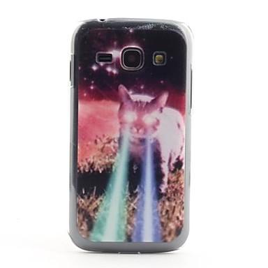 Samsung Galaxy Ace S7272 için 3 Lazer Göz Desen PVC Geri Case Cat