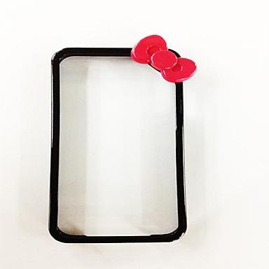 IPhone 4/4S için yay-Knot Black Frame Desen Polikarbonat Hard Case