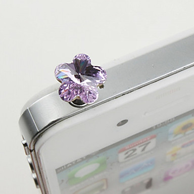 Alloy Zircon Plum Blossom Pattern Anti-dust Plug(Random Colors) DIY for iPhone 8 7 Samsung Galaxy s8 s7
