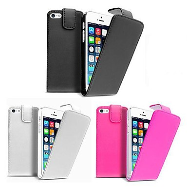 Pure Color PU Leather Case for iPhone 4 /4S (Assorted Colors)
