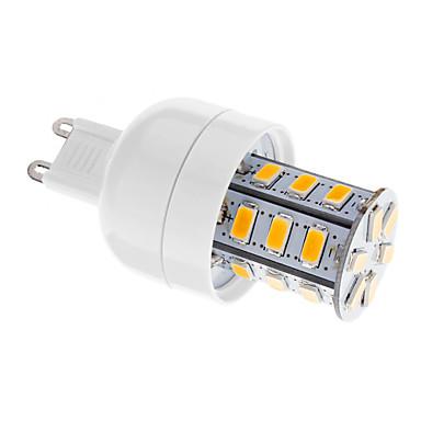 3W G9 LED лампы типа Корн T 24 светодиоды SMD 5730 Диммируемая Тёплый белый 250-300lm 2700-3500K AC 220-240V