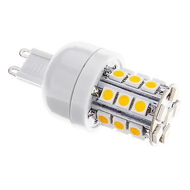 350 lm G9 LED Mısır Işıklar T 27 led SMD 5050 Kısılabilir Sıcak Beyaz AC 220-240V