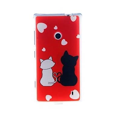 용 노키아 케이스 패턴 케이스 뒷면 커버 케이스 고양이 소프트 TPU Nokia Nokia Lumia 520
