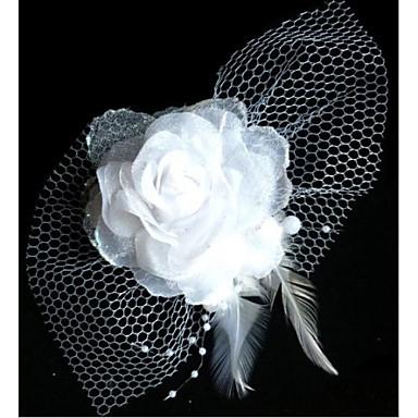 Moda Gelin Net İplik Headdress Çiçek Firkete