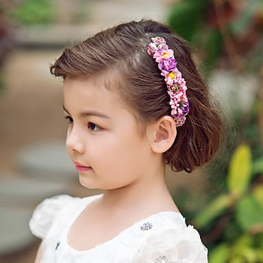 Kristal Kumaş Kağıt - Tiaras Headbands Çiçekler 1 Düğün Özel Anlar Parti / Gece Başlık