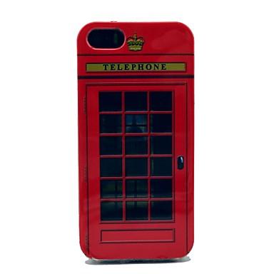 IPhone 5/5S için Fmouse Telephone Box Desen Yumuşak Kapak Kılıf