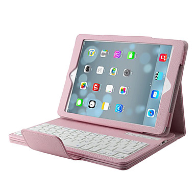 Wireless Bluetooth V3.0 64-Key Keyboard + Protective PU Leather Case Cover for iPad Air