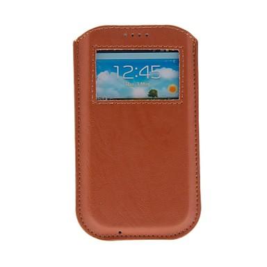 Pouzdro Uyumluluk Samsung Galaxy Tam Kaplama Kılıf PU Deri için S4 S3