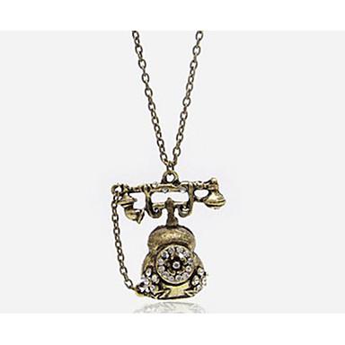 Урожай Телефон Форма сплава ожерелье (1 шт)