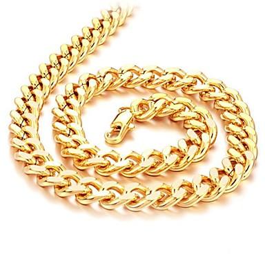 Mücevher Zincir Kolyeler Düğün / Parti / Günlük Altın Kaplama Erkek Altın Düğün Hediyeleri