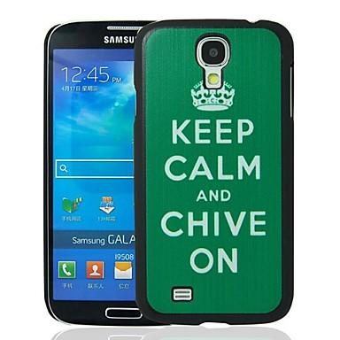 Pastrati-va calmul si arpagic pe model plastic dur caz de protecție pentru i9500 Samsung Galaxy S4