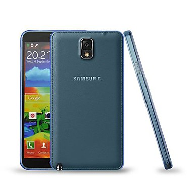 용 Samsung Galaxy Note 울트라 씬 케이스 뒷면 커버 케이스 단색 TPU Samsung Note 3